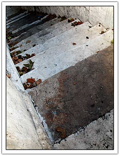 Stair going down next to the tiber (48kb)